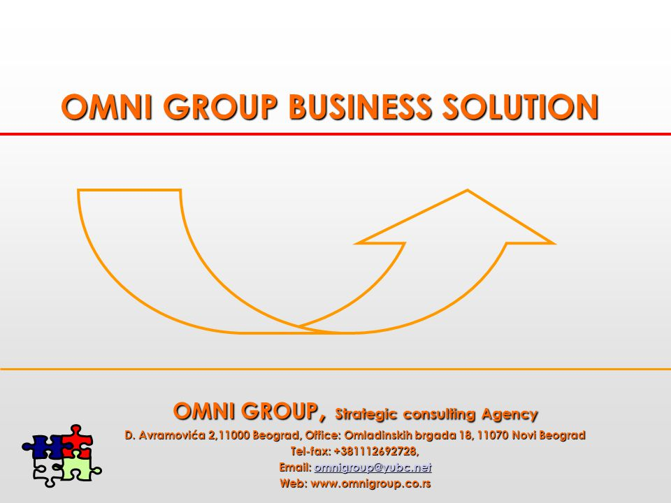 OMNI GROUP BUSINESS SOLUTION OMNI GROUP, Strategic consulting Agency D.