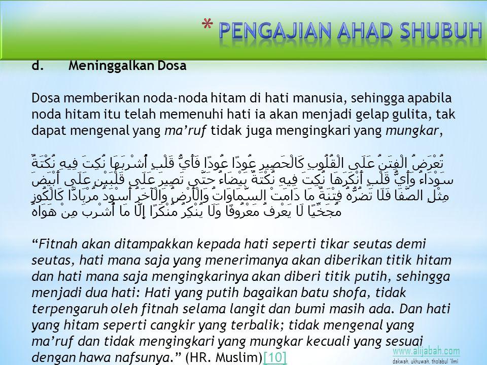 www.alijabah.com dakwah, ukhuwah, tholabul 'ilmi d.