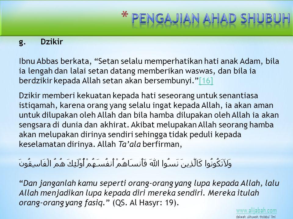www.alijabah.com dakwah, ukhuwah, tholabul 'ilmi g.