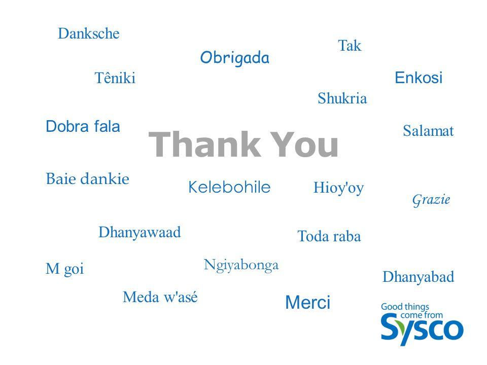 Thank You Dobra fala Baie dankie Dhanyawaad Ngiyabonga Kelebohile Enkosi Obrigada Merci Hioy oy Meda w asé Dhanyabad M goi Têniki Danksche Toda raba Grazie Shukria Salamat Tak