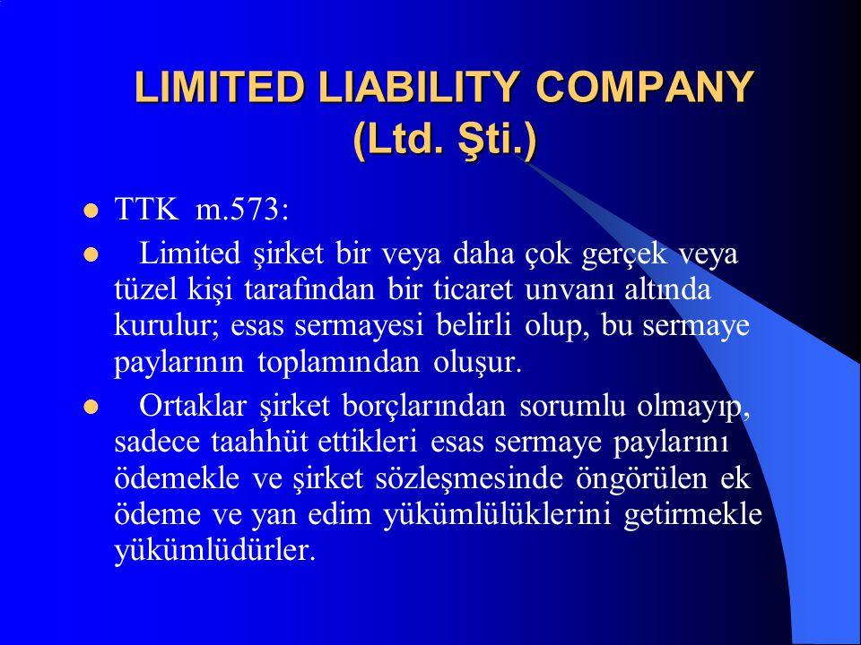 Limited şirket kanunen yasak olmayan her türlü ekonomik amaç ve konu için kurulabilir.
