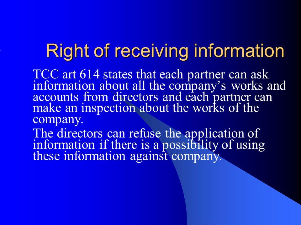 Right of Resign (Çıkma hakkı) TCC art.638.