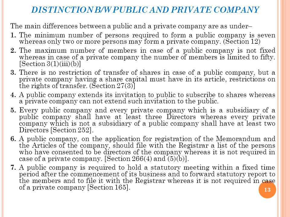 SECTION 25 COMPANIES Under the Companies Act, 1956, the name of a public limited company must end with the word 'limited' and the name of a private li