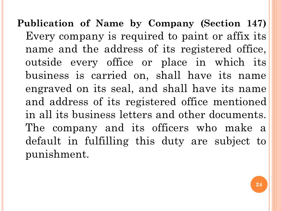 1. Name Clause The name of the company is mentioned in the name clause. A public limited company must end with the word 'Limited' and a private limite