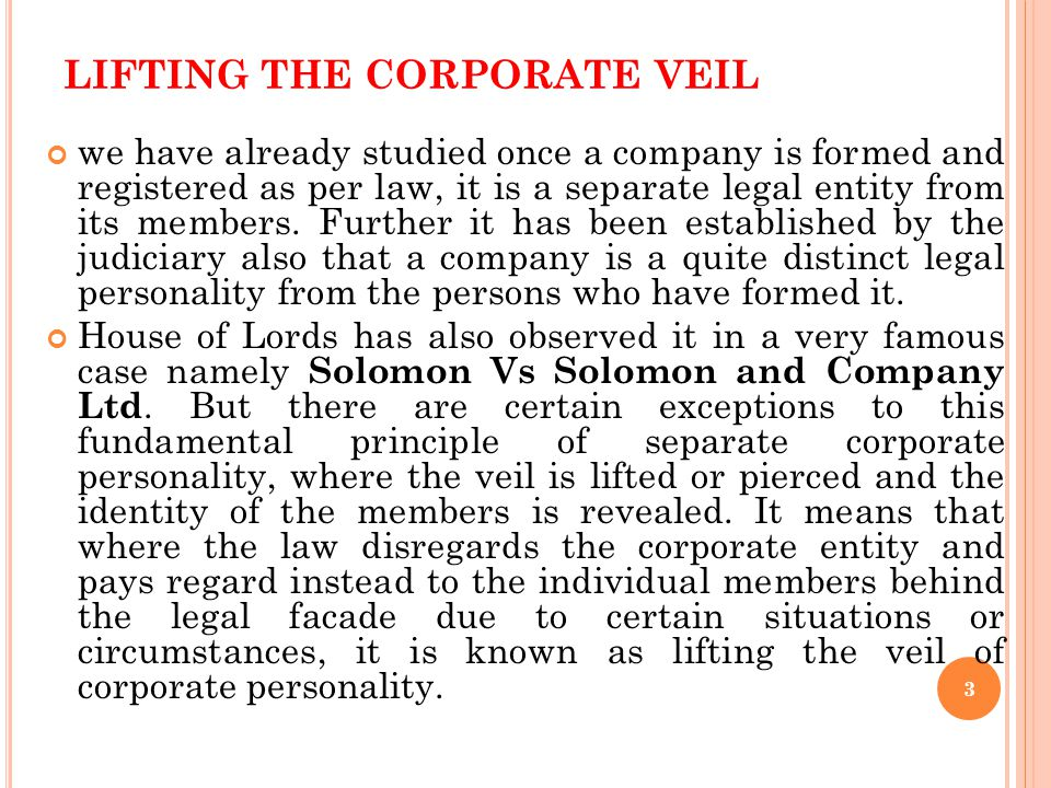 FEATURES OF COMPANY Company is a Separate Legal Entity Perpetual Succession It can sue and be sued in its own name The liability of the shareholders a