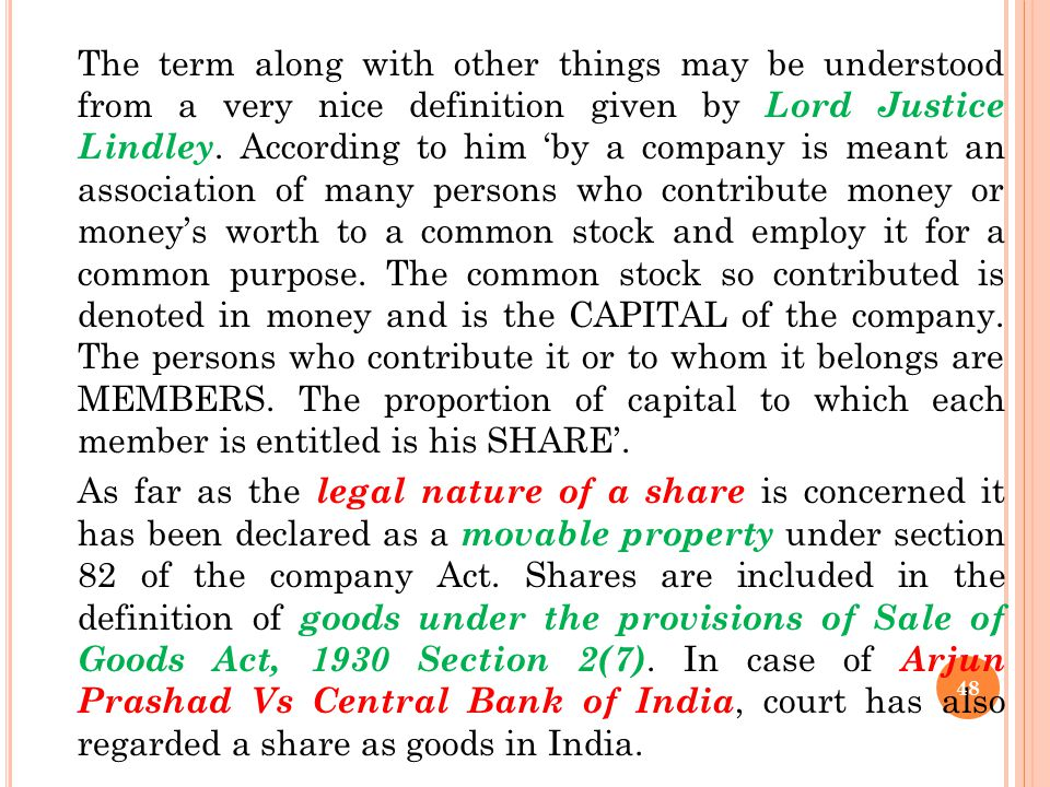 UNIT – III SHARE AND DEBENTURES Shares A share in a company is one of the units into which the total capital of the company is divided. It is an inter