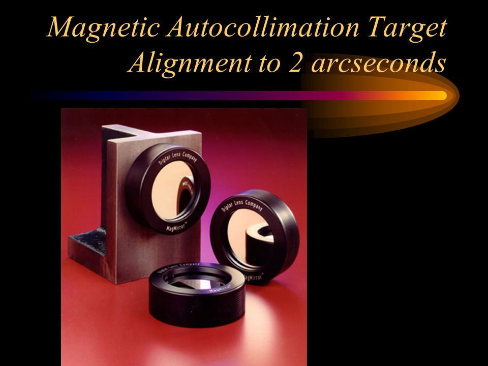 Magnetic Autocollimation Target Alignment to 2 arcseconds