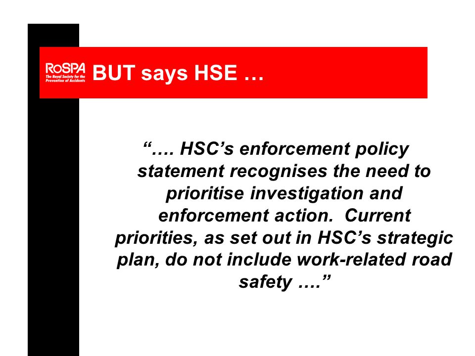 BUT says HSE … ….