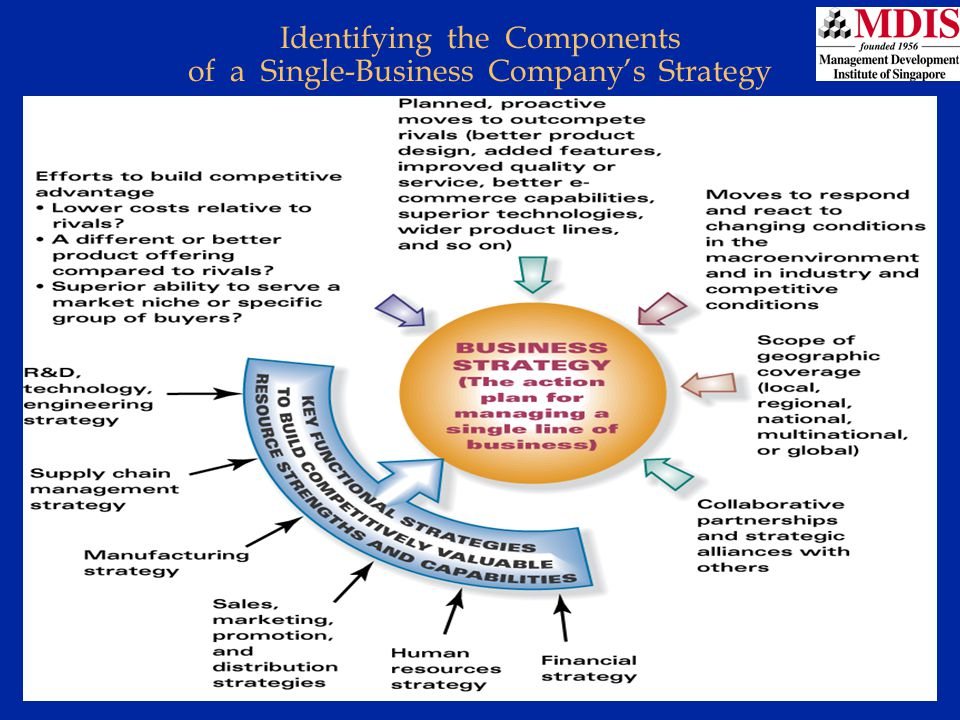 Lesson 3Module: JM006 Identifying the Components of a Single-Business Company's Strategy