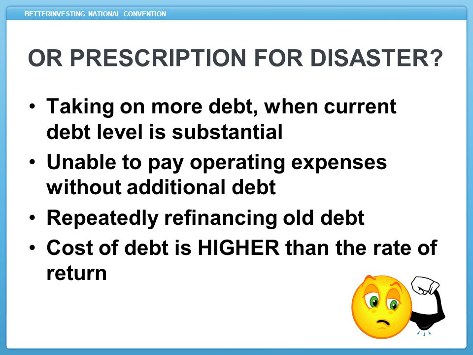 BETTERINVESTING NATIONAL CONVENTION OR PRESCRIPTION FOR DISASTER.