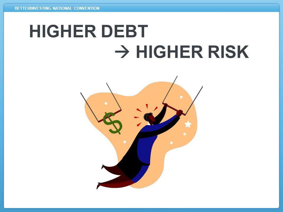 BETTERINVESTING NATIONAL CONVENTION HIGHER DEBT  HIGHER RISK