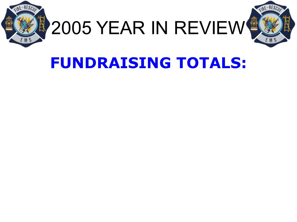 2005 YEAR IN REVIEW FUNDRAISING TOTALS: