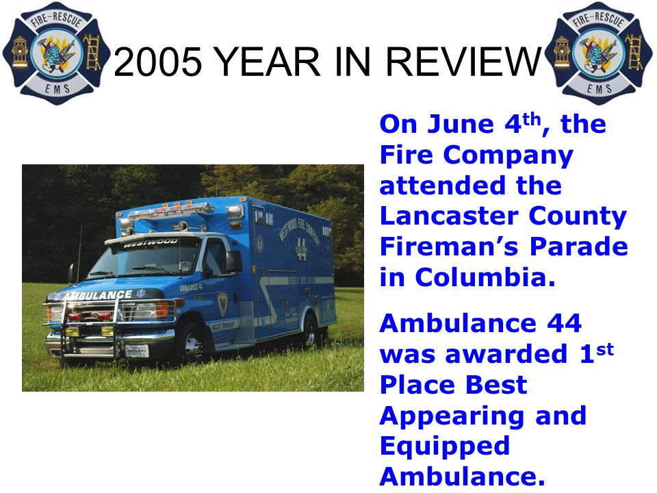 2005 YEAR IN REVIEW STATISTICS NOT INCLUDED IN THIS REPORT: Hours spent setting up for Bingo each week Hours spent maintaining equipment each week Hours spent on building and ground maintenance