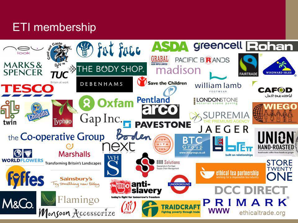 ethicaltrade.org ETI membership WWW