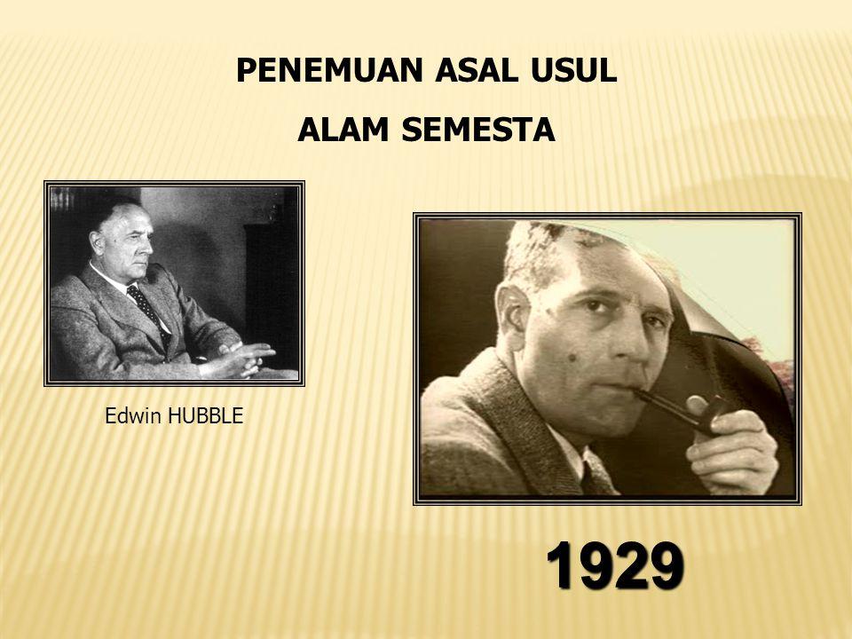 Edwin HUBBLE 1929 PENEMUAN ASAL USUL ALAM SEMESTA