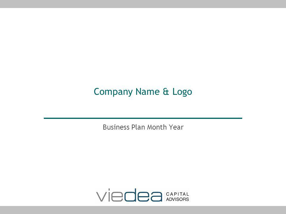 Company Name & Logo Business Plan Month Year