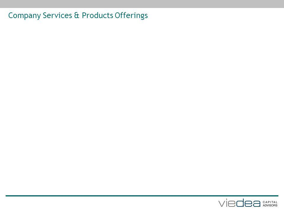 Company Services & Products Offerings