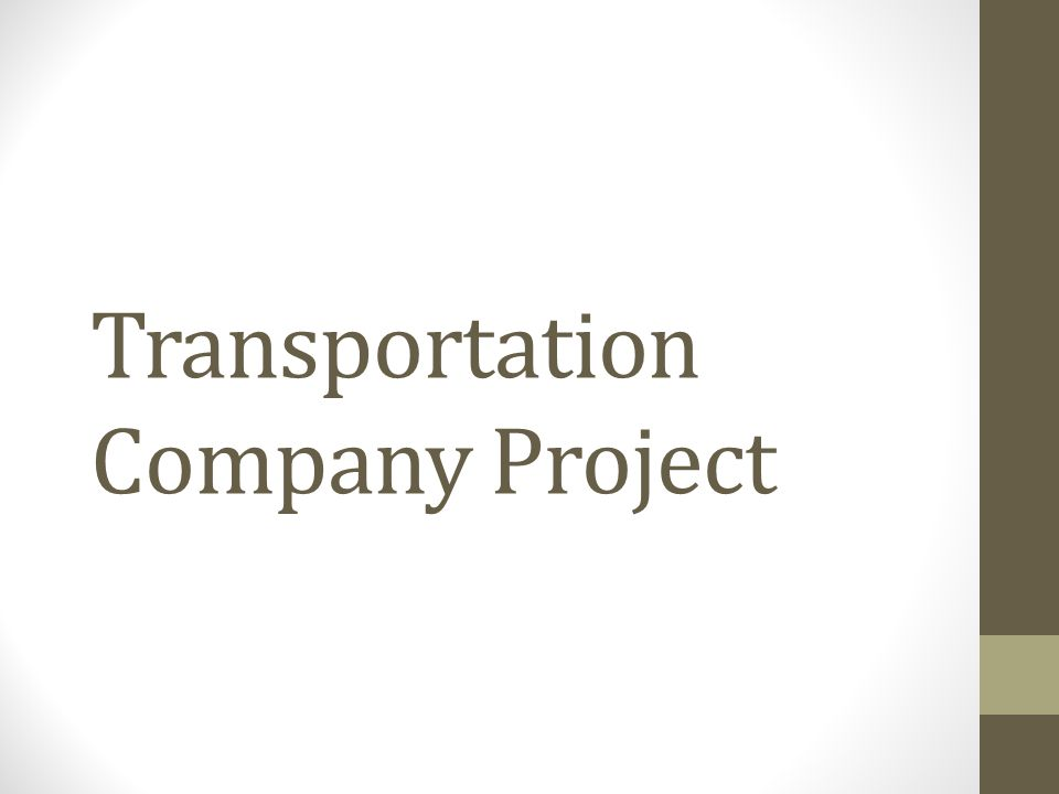 Transportation Company Project