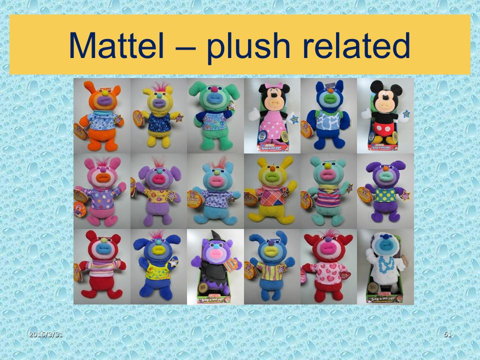 2015/3/3161 Mattel – plush related
