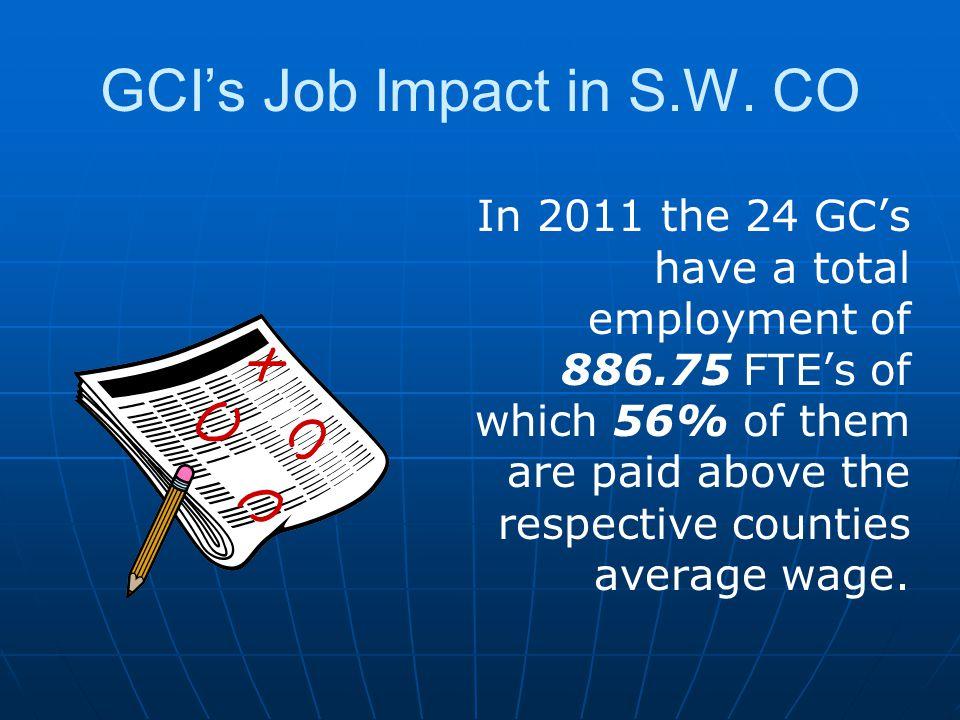 GCI's Job Impact in S.W.