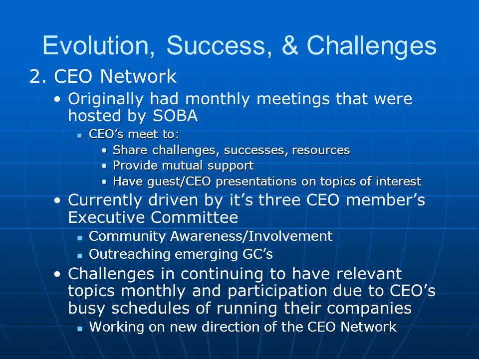 Evolution, Success, & Challenges 2.