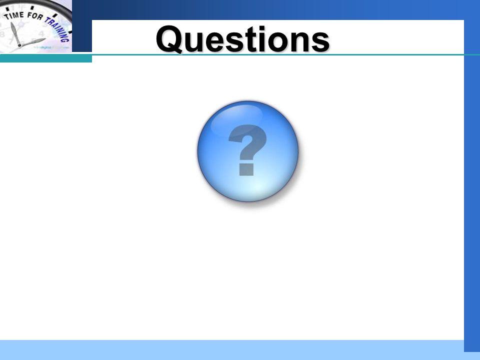 Company LOGO Questions Questions