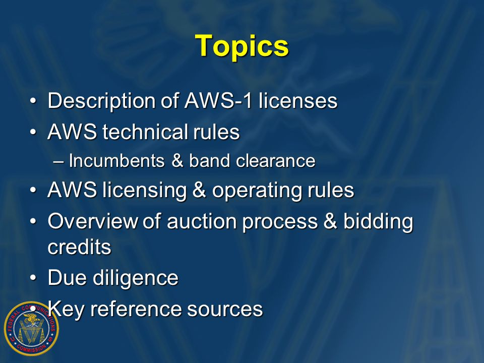 AWS-1 Licenses Mobile band: Base band: Mobile band: Base band: 1710-1755 MHz 2110-2155 MHz 1710-1755 MHz 2110-2155 MHz