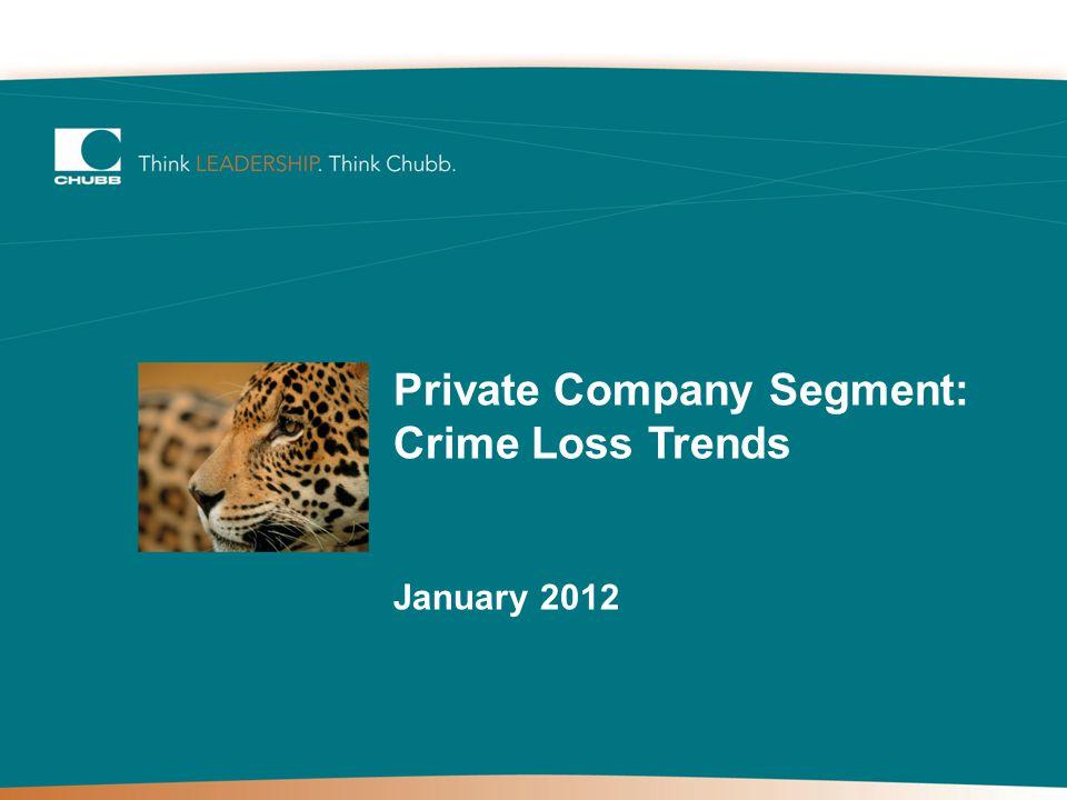 Private Company Segment: Crime Loss Trends January 2012