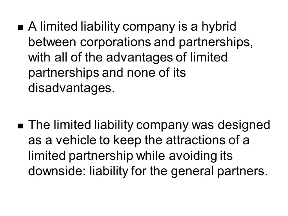 Naming Restrictions on a Limited Liability Company The official name must contain the words limited liability company or the abbreviation LLC. This is to put the public on notice that it is dealing with a company that enjoys the protections of limited liability.