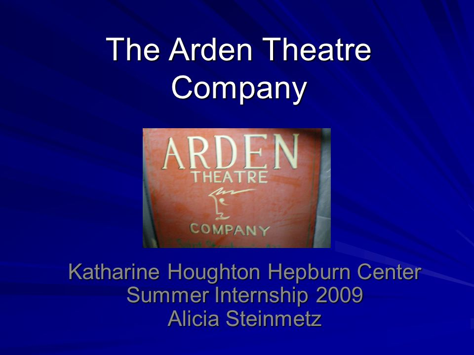 Mission The Arden Theatre Company is dedicated to bringing to life the greatest stories by the greatest storytellers of all time.