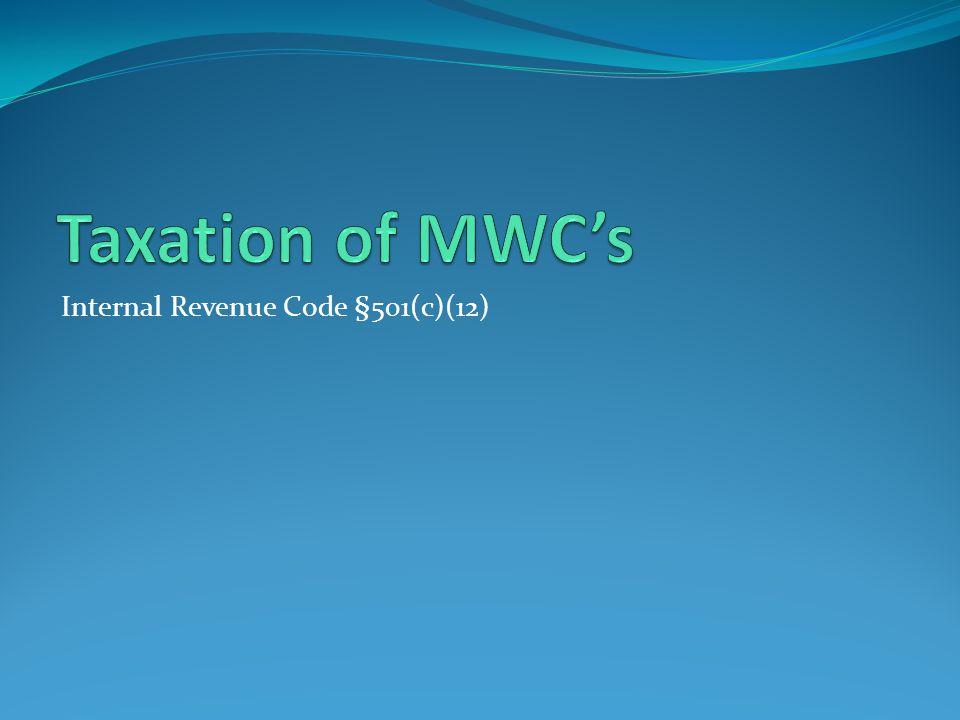 Internal Revenue Code §501(c)(12)