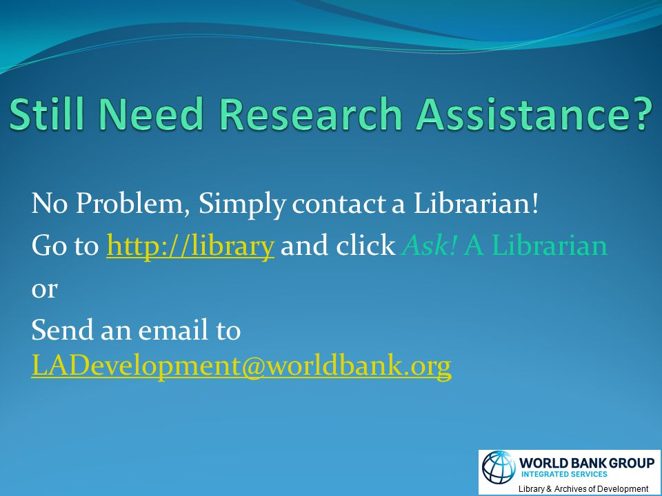 No Problem, Simply contact a Librarian. Go to http://library and click Ask.
