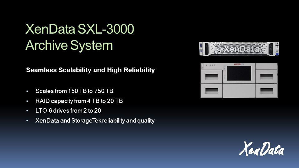 XenData SXL-3000 Archive System Built-in Data Protection  The system will automatically create extra backup copies of LTO cartridges for offsite retention.