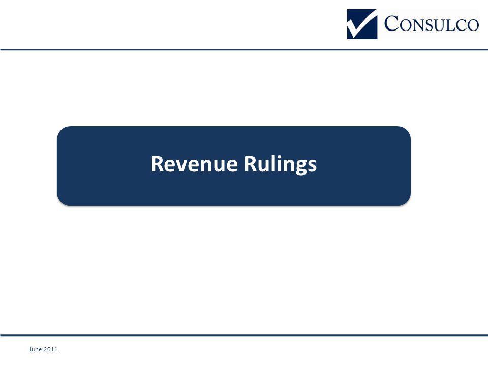June 2011 Revenue Rulings