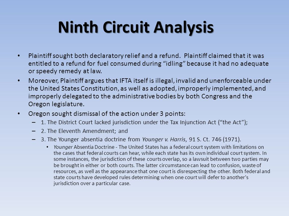 Ninth Circuit Analysis Plaintiff sought both declaratory relief and a refund.