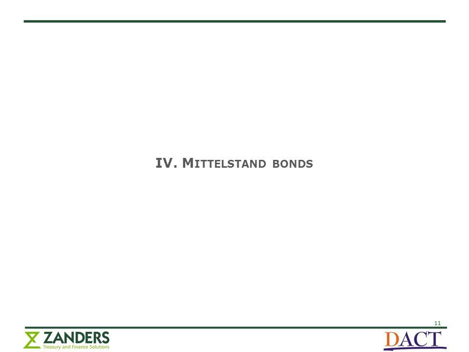11 IV. M ITTELSTAND BONDS