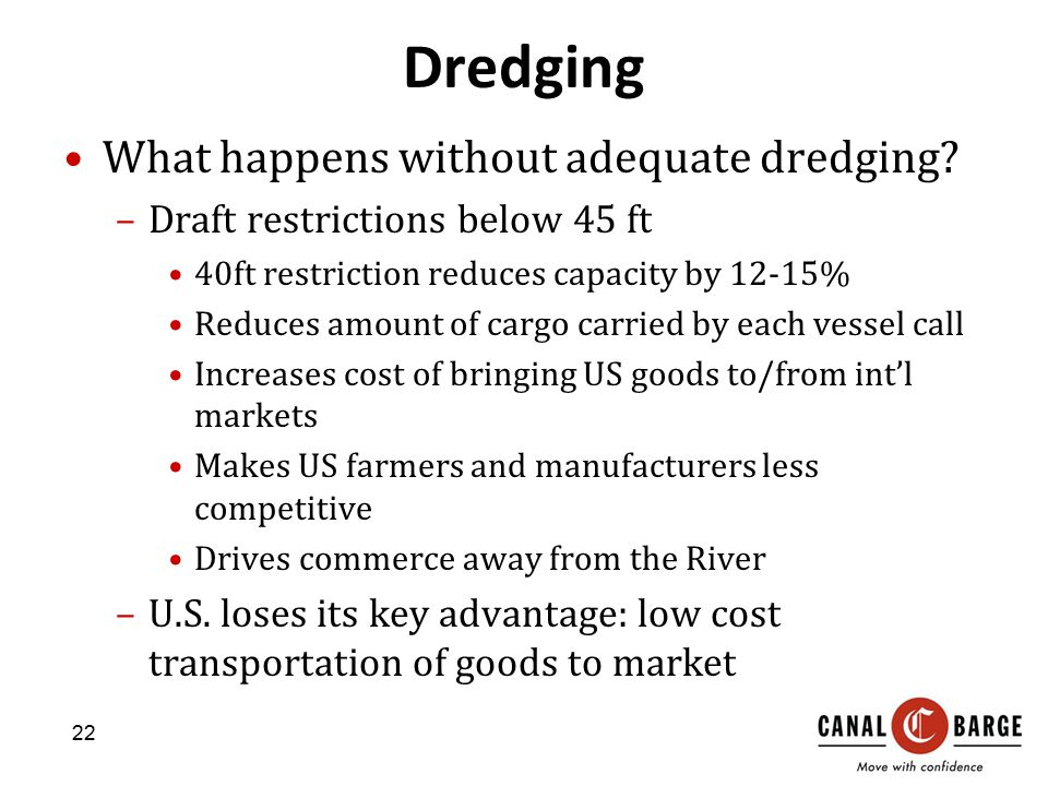 Dredging What happens without adequate dredging.