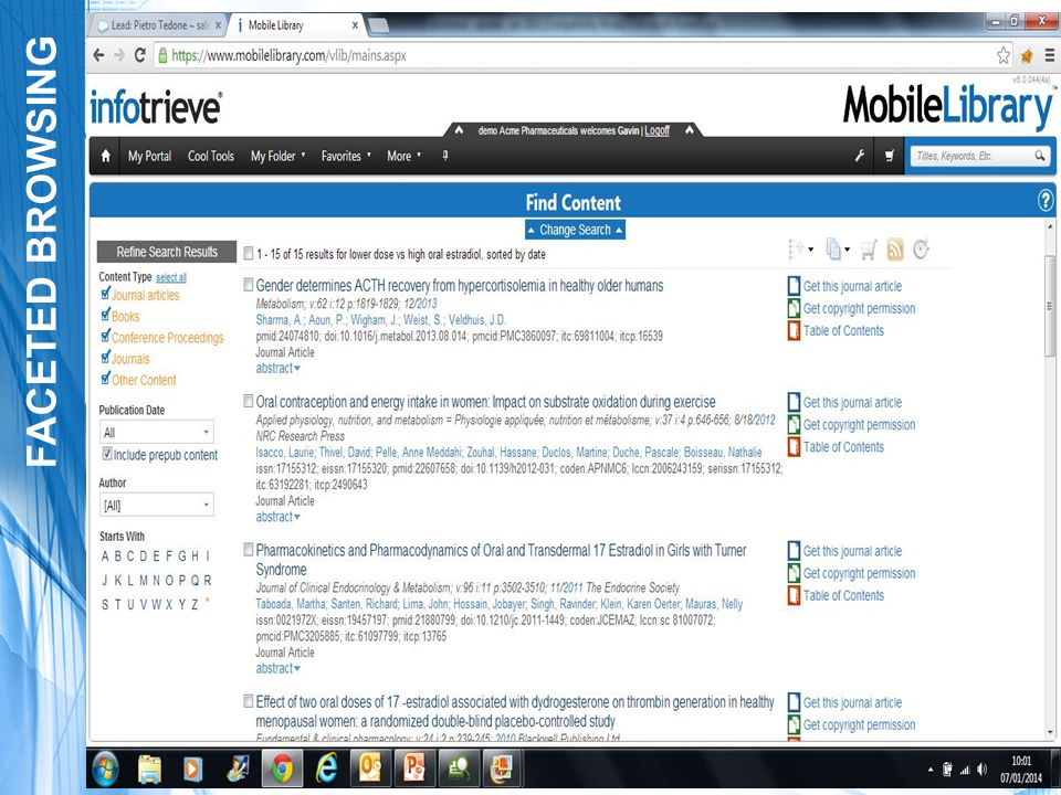 SEARCH TOOL INTEGRATION EBSCO Discovery Service is now fully integrated in the Mobile Library! New