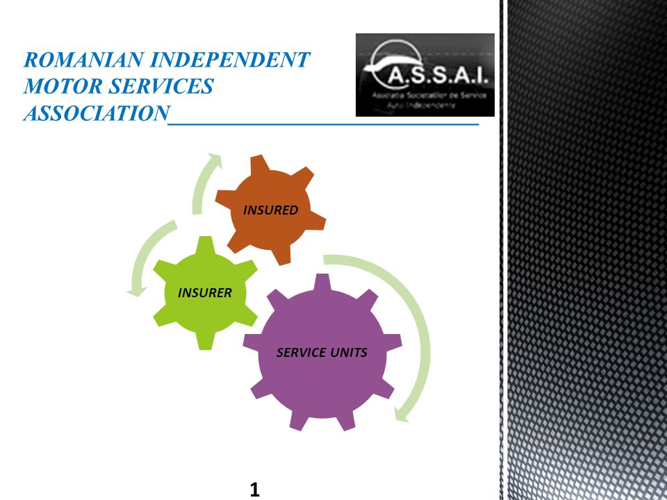 ROMANIAN INDEPENDENT MOTOR SERVICES ASSOCIATION____________________________ 1 SERVICE UNITS INSURER INSURED