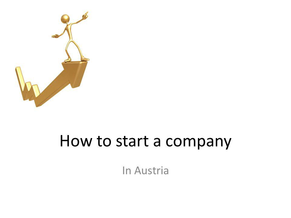 How to start a company In Austria