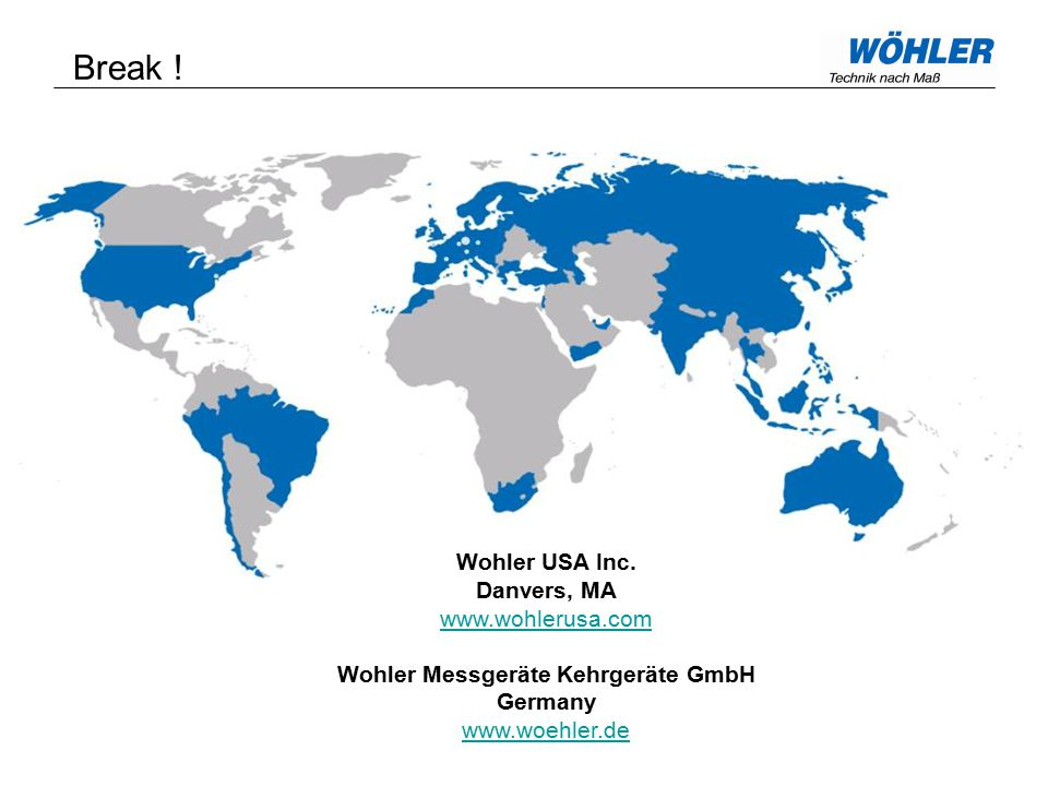 Break . Wohler USA Inc.