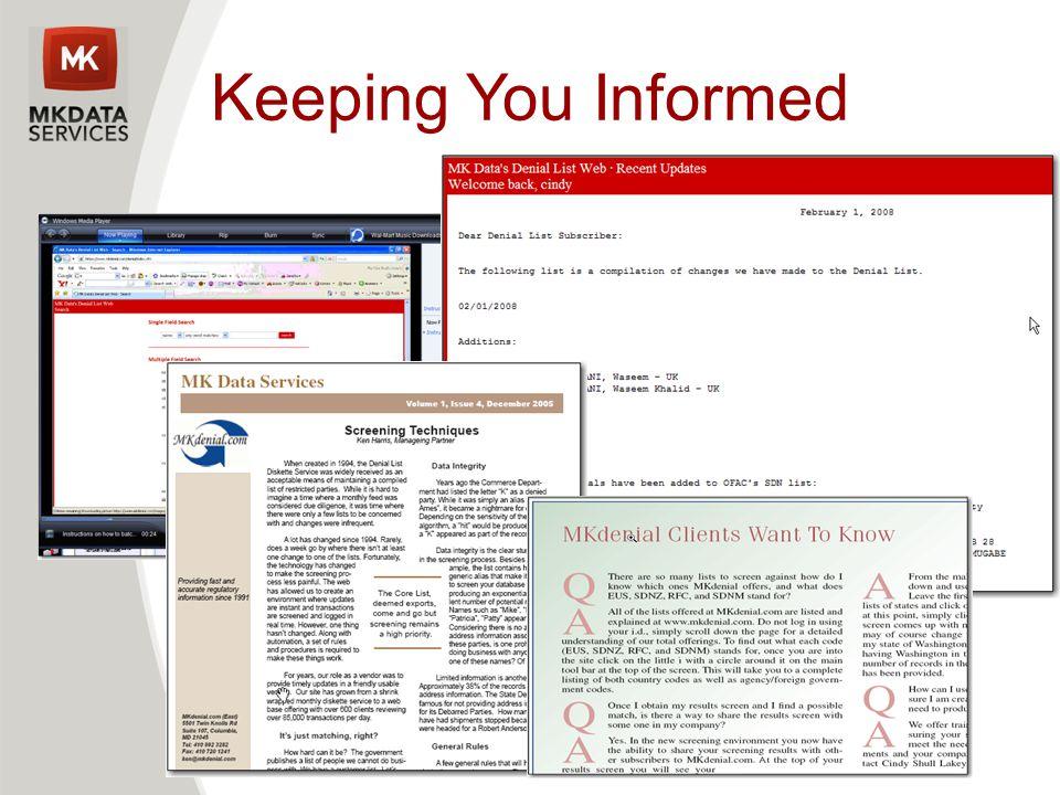 Keeping You Informed Kee