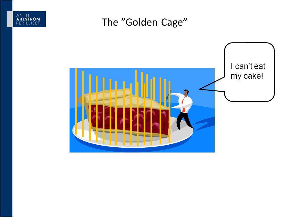 "The ""Golden Cage"" I can't eat my cake!"