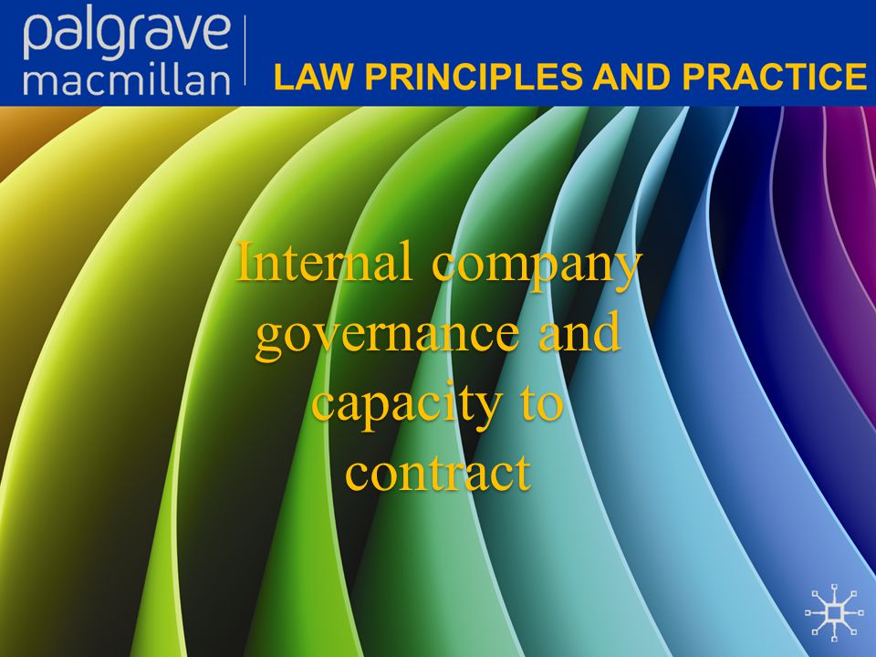 Corporate Law: Law principles and practice Promoters and preregistration contracts A promoter brings the company into existence and determines the type of company created.