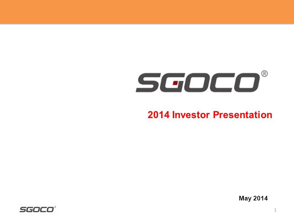 1 2014 Investor Presentation May 2014