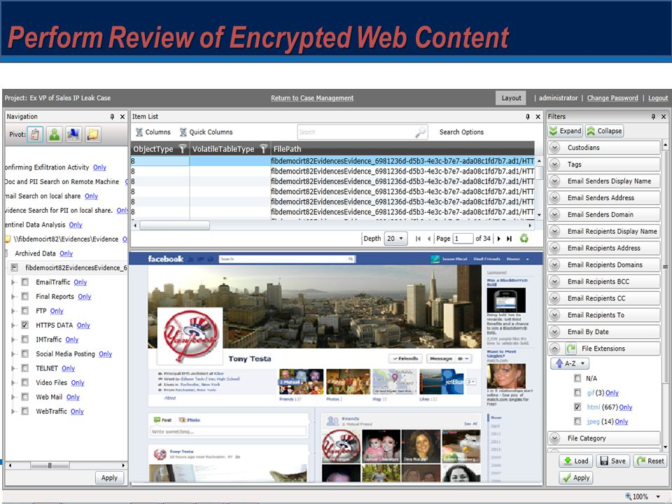 Perform Review of Encrypted Web Content