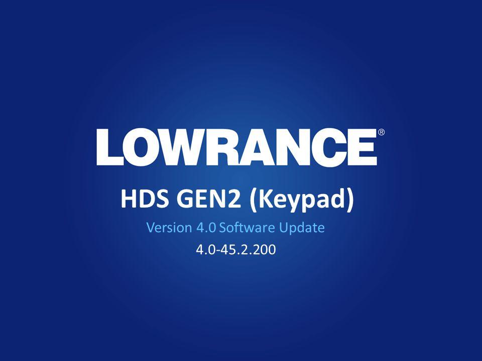 HDS GEN2 (Keypad) Version 4.0 Software Update 4.0-45.2.200