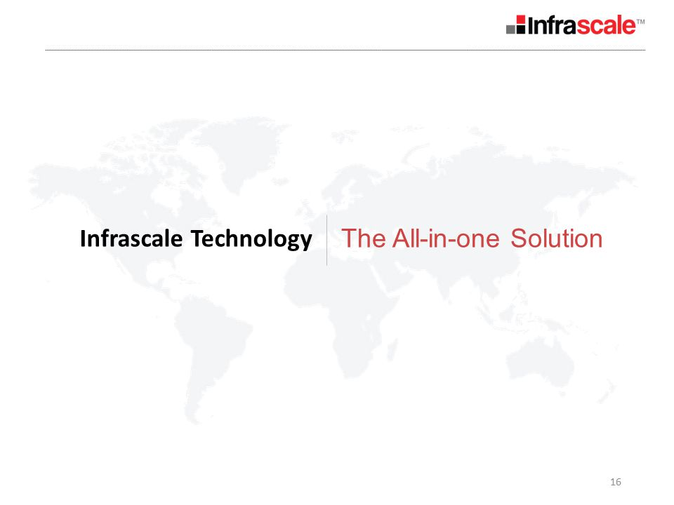 16 Infrascale Technology The All-in-one Solution
