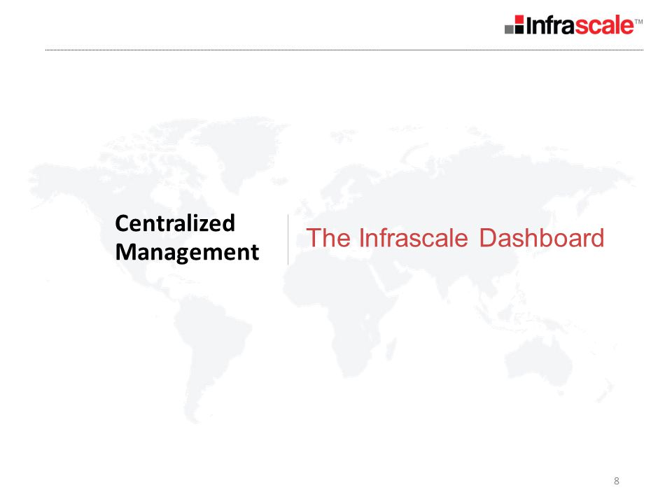 8 Centralized Management The Infrascale Dashboard
