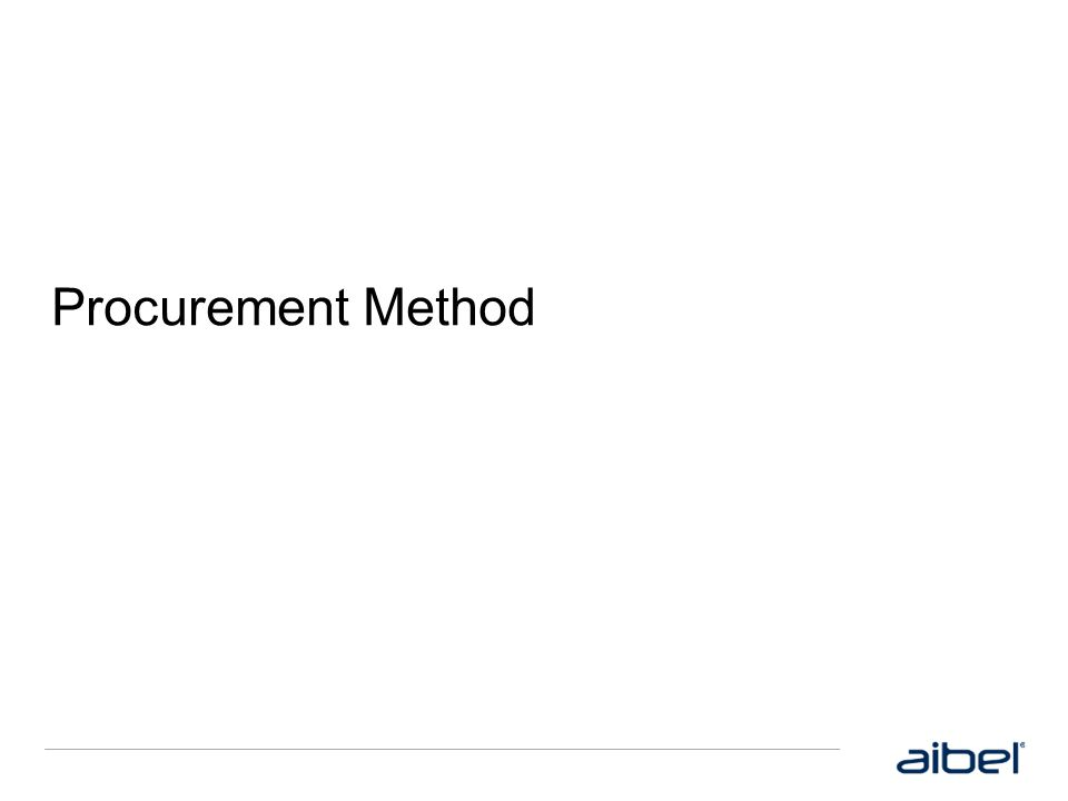Procurement Method